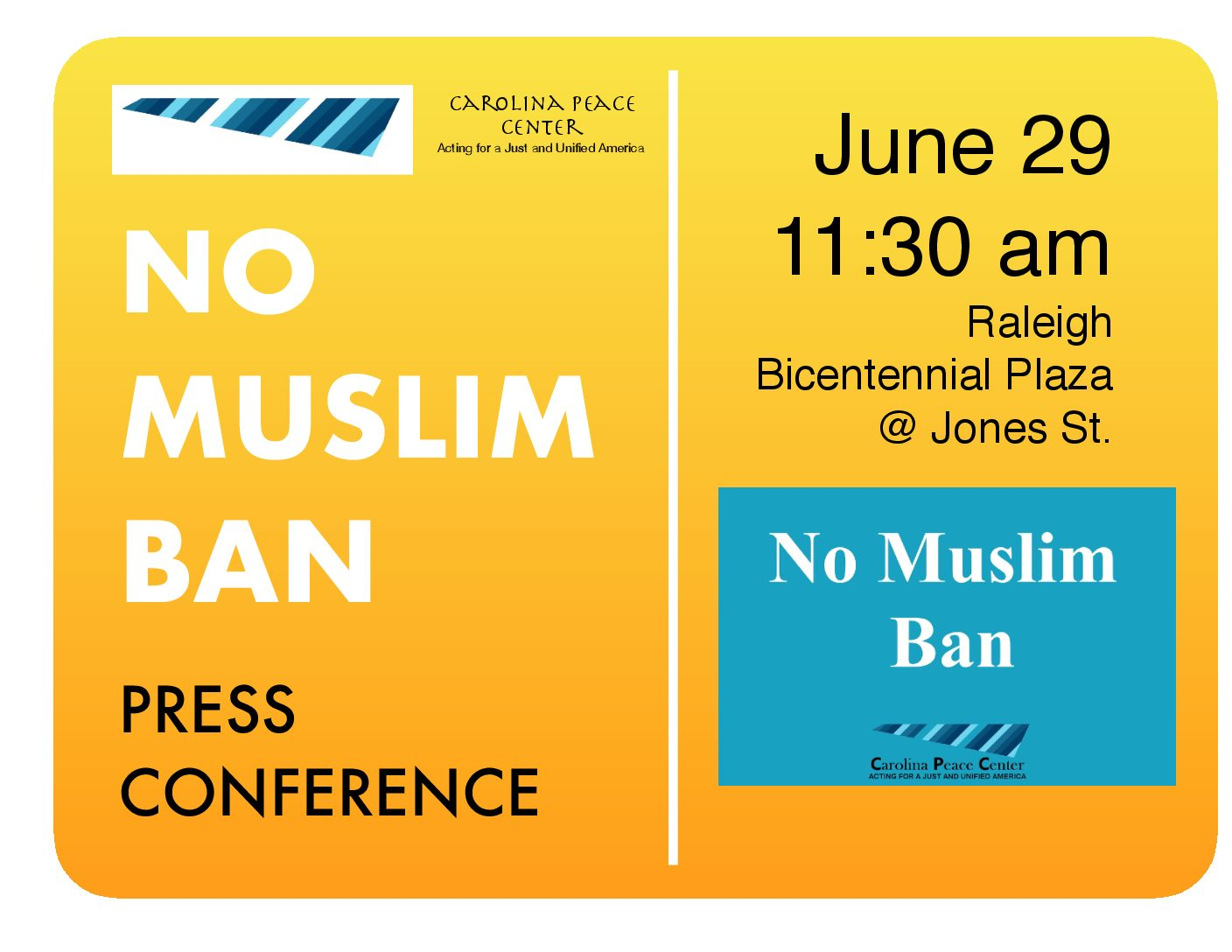 EVENT: No Muslim Ban Press Conference